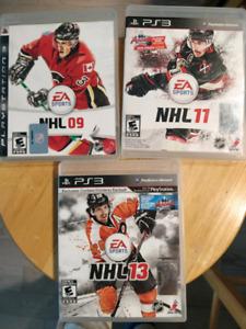 PS3 NHL 9, 11 et 13