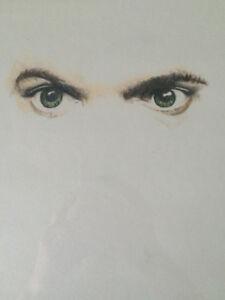 """Male Study"" (Male Eyes Drawing)"