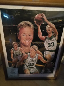 Larry Bird signed picture