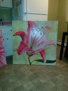Huge flower painting only $90 reduced price!!