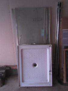 New Shower Base and Glass doors