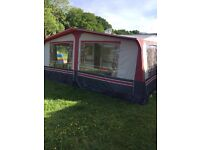 Pullman caravan awning with annexe