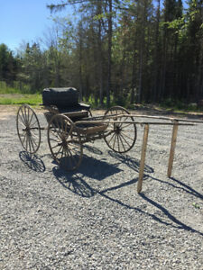 1920's Horse drawn doctors  4 wheel Carriage