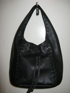 Black Leather Handbag used once