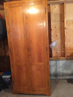 Antique Solid Oak Wardrobe