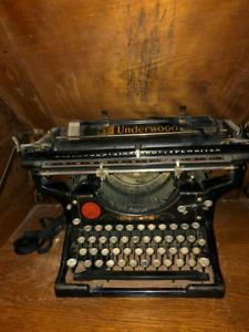 Antique Underwood Typewriter Desk