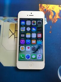 iPhone 5 unlocked gold and white
