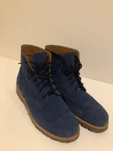 New Blue Suede Roots Fall Winter Timberland-style Boots