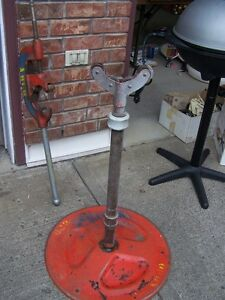 Pipe cutter and stand and misc items