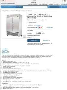 Stainless steel industrial size fridge