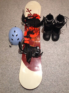 Women's Snowboard, and boots package