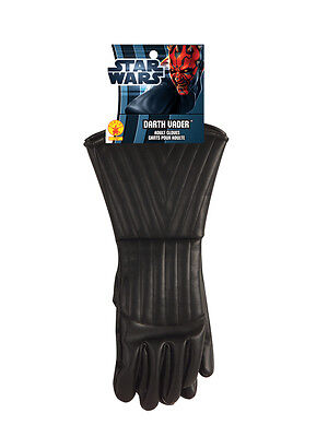 Adult Mens Darth Vader Star Wars Gloves Gauntlets Fancy Dress Costume Accessory