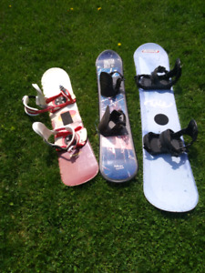 Snowboards and cross country ski's