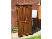 Good strong solid pine double wardrobe