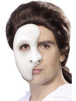 Phantom Oper Maske Erwachsene Theater Gesichtsmaske Weiß Halb Masken Kostüm