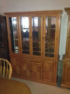 Oak chain hutch