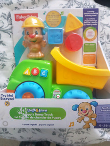 Fisherprice learn and plan dump truck with sounds