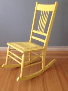 Small Vintage Wood Rocking Chair