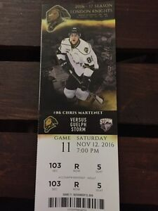 Knights ticket! 1 for sale! Last minute London Ontario image 1