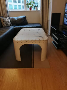 Coffee Table made from Reclaimed Metal . Perfect for Loft.