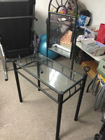 FS: Glass and Steel Vanity
