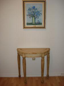 Table d'appoint, salon... ( demi-lune ) en bois