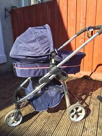 I-Candy full Pram set with car seat and bag