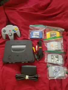 Excellent condition N64 and games.