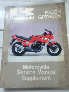 1987 Kawasaki Factory GPZ500 EX Service Manual supplement