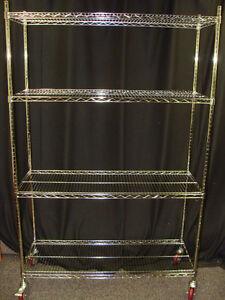 Chrome Wire Shelves, Metro style racks!