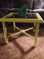 Rustic Side Table in Country Pear Green. $50