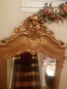 VERY LARGE BEAUTIFUL GOLD ELEGANT HALLWAY ENTRANCE MIRROR
