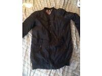 Long navy bomber jacket