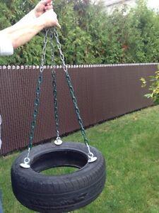 Pneu balançoire avec chaine et crochet