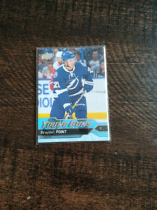 16/17 UD Young Guns Rookie Card Braydon Point.