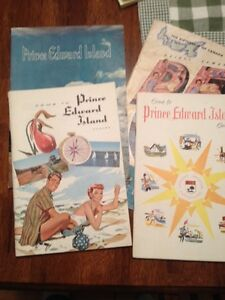 4 Vintage Department of PEI Tourisms Guide books