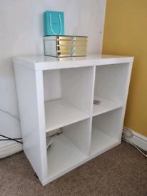 White kallax storage cube unit ikea £25 perfect condition