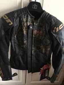 Women's ICON leather biker jacket