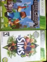 Minecraft and sims 3 Xbox 360