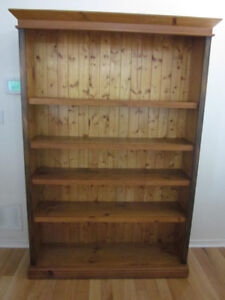 Reduced - Beautiful Custom Built Large Solid Pine Bookcase
