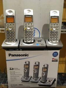 Panasonic 3-Handset Cordless Phone Answering System