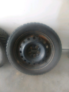 Studded tires and rims 205/55R16