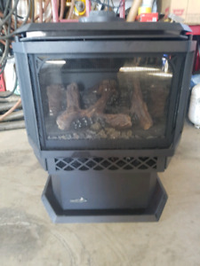 New natural gas fireplace