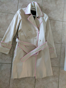 Coach trench jacket with light pink lining