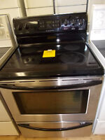 Frigidaire stainless stove with 90 day warranty. $399.
