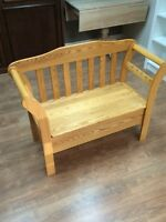 Solid ash deacons bench