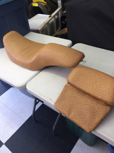 1997-2007 Harley Davidson Touring Ostrich Seat and Back Rest