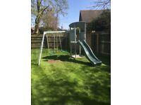 Plum swing and slide set