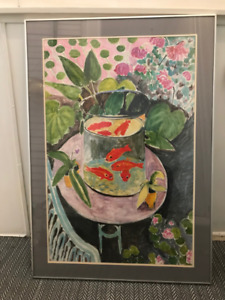 "Henri Matisse ""The Goldfish"" 1912, Framed Print"