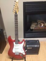 Lotus Stratocaster and Univox amp